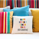 Personalised Rude Insulting Cotton Cushion Cover