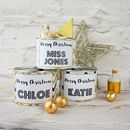 Gold Christmas Cracker Tin