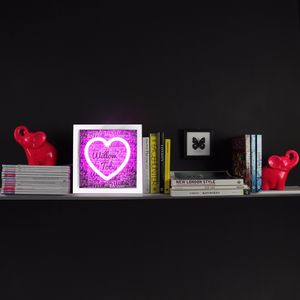 Personalised LED Neon Heart Light In Box Frame - children's room