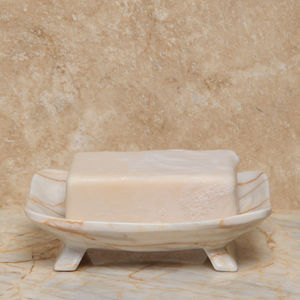 Marble Soap Dish. Dark, Grey Or Cream Colour