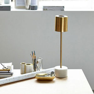 Desk Lamp With Marble Base - table lamps