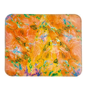 'Peach Marble' Printed Leather Mouse Mat - summer sale