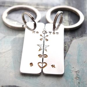 Personalised, You Make Me Whole Key Ring Set - 100 best gifts