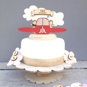 Personalised Plane Wedding Cake Topper