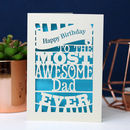 Papercut Happy Birthday To The Most Awesome… Card