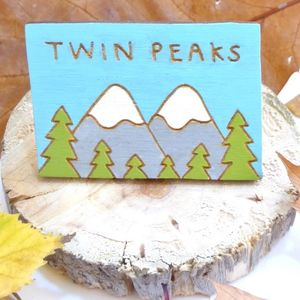 Twin Peaks Hand Painted Pin Badge
