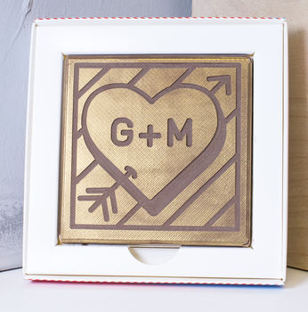 Personalised 'Initials' Chocolate Card