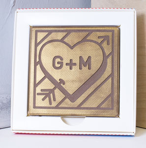 Personalised 'Initials' Valentines Chocolate Card - chocolates
