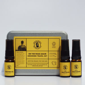 Men's Organic Grooming Travel Holiday Gift Set UK Made - gift sets
