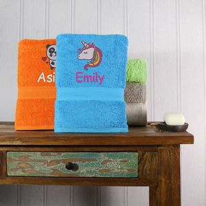 Kids Personalised Bath Towel - bathroom