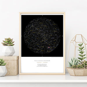 Personalised Map Of The Stars Print - for travel-lovers