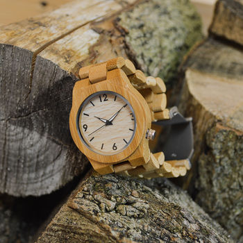 Personalised Wooden Ladies Wrist Watch