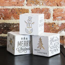 White Wooden Christmas LED Light Box