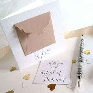 Personalised Maid Of Honour Precious Message Card