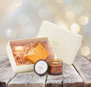 Gold Frankincense And Myrrh Relaxing Christmas Gift Box - gift sets