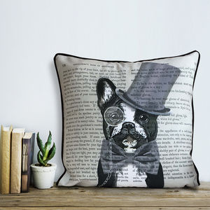 French Bulldog Cushion, Formal Dog Collection - cushions