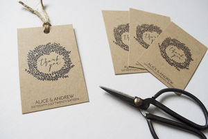Personalised Jude Wedding Favour Tags - rustic autumn wedding styling