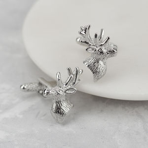 Stag Head Cufflinks - cufflinks