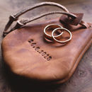Leather Ring Pouch