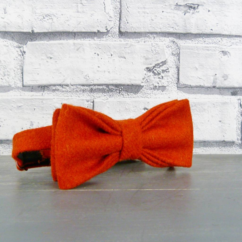 yorkshire twill wool tweed bow tie by moaning minnie ...