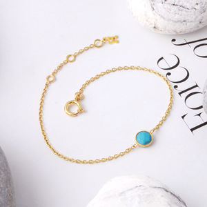 Birthstone Bracelet In 18ct Gold Vermeil - september birthstone