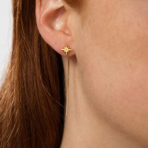 Star Threader Bar Earrings