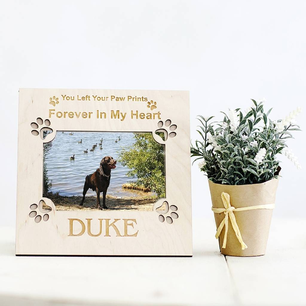 personalised memorial dog picture frame by natural gift store ...