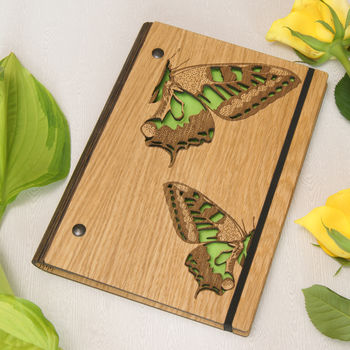 Butterfly Notebook in Green