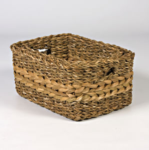 Water Hyacinth Shelf Baskets Set Two Hg4/Two
