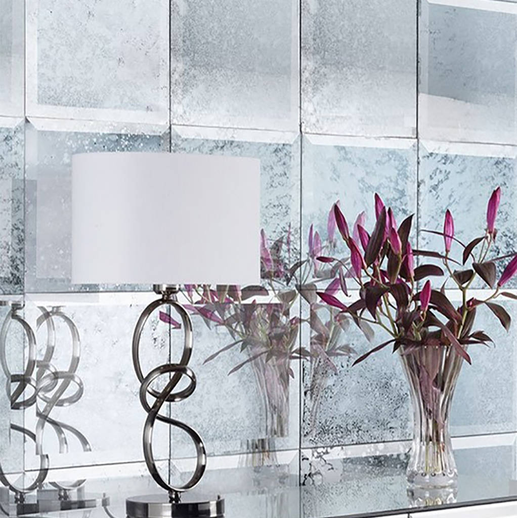 Bevelled Antique Mirrored Square Wall Tiles