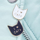 I Love Cats Pin Badge
