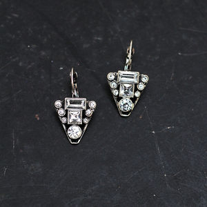 Vintage Style Diamante Earrings - earrings