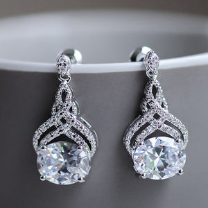 Crystal Twist Earrings