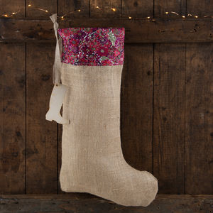 Silk Liberty Print Gardener's Stocking - stockings & sacks