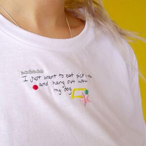 'Pick N Mix With My Dog' Embroidered Unisex T Shirt