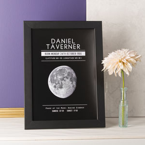 Personalised Moon Phase Significant Date Print - gifts sale