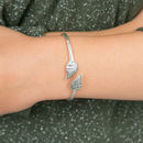 Silver Angel Wings Bangle
