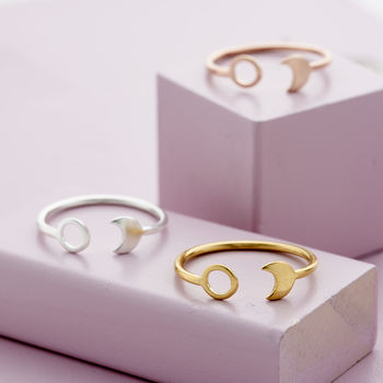 Sun And Moon Open Ring