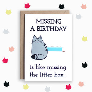 Belated Birthday Cat Card - birthday cards