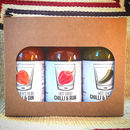 'On The Sauce' Boozy Chilli Sauce Gift Set