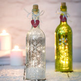 Christmas Sparkle Light Bottles With Snowflake Design - christmas decorations