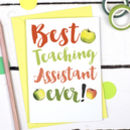 Thank You Best Teaching Assistant Card