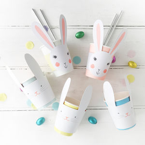 Easter Rabbit Paper Cups - easter egg hunt
