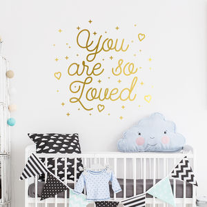 You Are So Loved Inspirational Quote Wall Decal Sticker - home accessories