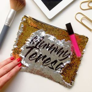 Personalised Sequin Reveal Make Up Bag - make-up bags