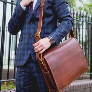 Leather Messenger Bag For Men 'Ryton'