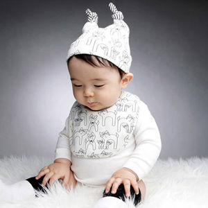 Little Kitten Unisex Baby Hat And Bib Set - babies' hats