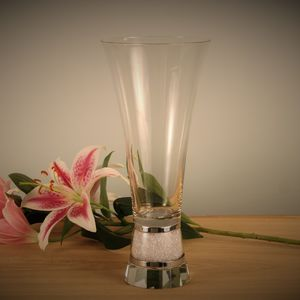Glass Vase Filled With Swarovski Crystals - tableware