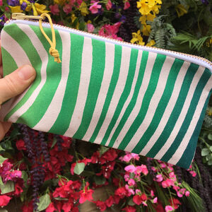 Wave Ombre Screenprint Fabric Pencil Case
