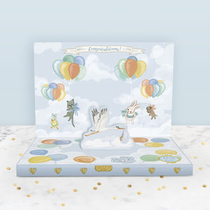 It's A Boy New Baby Music Box Card